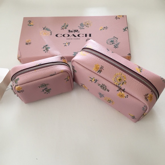 Coach Boxed Small & Mini Boxy Cosmetic Case Set